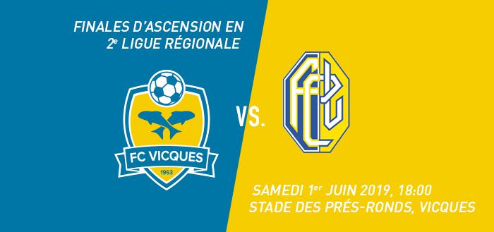 Finales d'ascension : FC Vicques - FC Länggasse